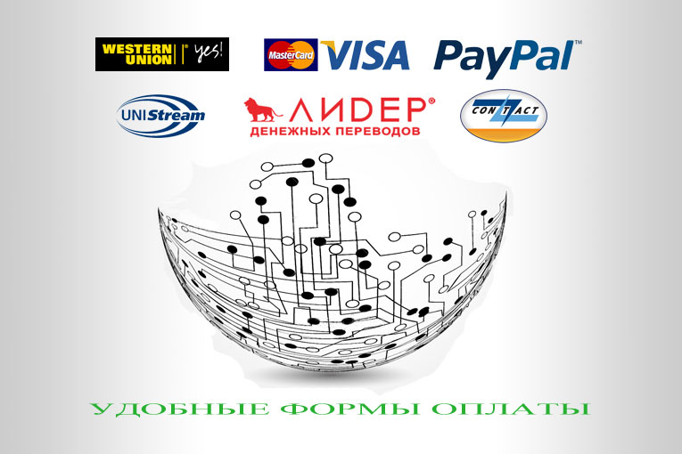 PayPal,Western union,Bank,UniStream